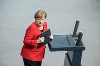 21 MAR 2019, BERLIN/GERMANY:<br /> Angela Merkel, CDU Bundeskanzlerin, nach ihrer   Regierungserklaerung zum Europaeischen Rat, Plenum, Deutscher Bundestag<br /> IMAGE: 20190321-01-051