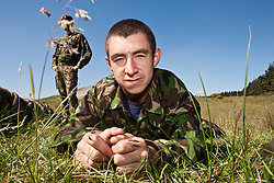 Craig McKendrie..Exercise Guards Warrior with the Scots Guards at their Catterick base..Pic ©2010 Michael Schofield. All Rights Reserved.