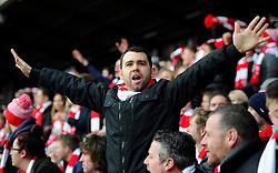 Fan  - Photo mandatory by-line: Joe Meredith/JMP - Mobile: 07966 386802 - 25/01/2015 - SPORT - Football - Bristol - Ashton Gate - Bristol City v West Ham United - FA Cup Fourth Round