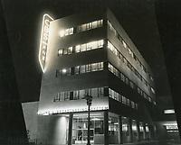 1954 CBS Radio on Sunset Blvd. at night