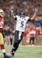 San Francisco 49ers XXXXX Baltimore Ravens during Super Bowl XLVII on January 3, 2013New Orleans. ( Photo/Tom DiPace)