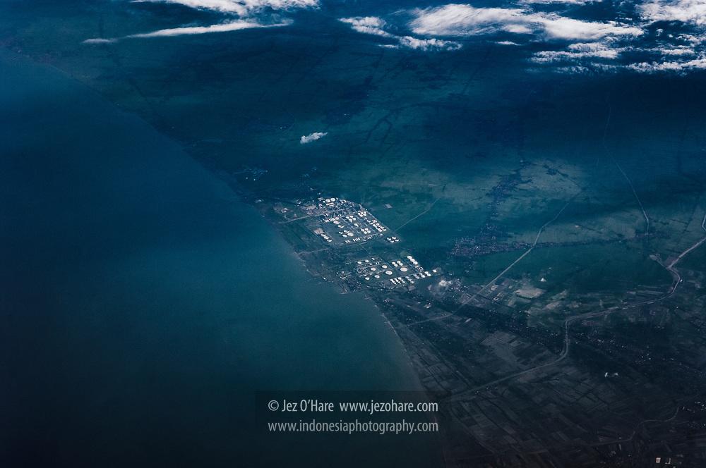 Balongan oil & gas refinery, Indramayu, Jawa Barat, Indonesia.