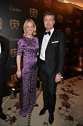 KATE REARDON and LAURENT FENIOU at the 26th Cartier Racing Awards held at The Dorchester, Park Lane, London on 8th November 2016.