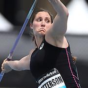 Kara Patterson, USA, in action during the Women's Javelin throw during the Diamond League Adidas Grand Prix at Icahn Stadium, Randall's Island, Manhattan, New York, USA. 14th June 2014. Photo Tim Clayton