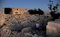 (170729) -- ALEPPO (SYRIA), July 29, 2017 (Xinhua) -- Photo taken on July 28, 2017 shows a view of the interior of the ancient citadel of Aleppo, Syria. The rebels had stayed in the east of Aleppo for five years before they evacuated in December of 2016. Seven months after the Syrian army took full control over the city, life starts to beat again through devastation and destruction in the area. (Xinhua/Ammar Safarjalani) (zjy) (Photo by Xinhua/Sipa USA)