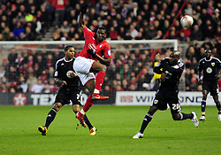 Nottingham Forest's Guy Moussi  clears the ball - Photo mandatory by-line: Matt Bunn/JMP - 25/01/2011 - SPORT - FOOTBALL - npower championship-Nottingham Forest v Bristol city-City Ground-Nottingham