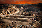Digitally manipulated image, Israel, Judaea Desert, The dunes of Judea desert.