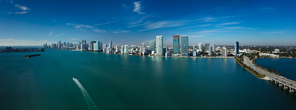 Miami's Edgewater neighborhood from the air.