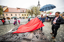 Gregor Macedoni, mayor of Novo mesto opening a new 3D City model during the cycling race 5th Grand Prix Adria Mobil, on April 7, 2019, in Slovenia. Photo by Vid Ponikvar / Sportida