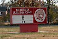 11/7/07 Smith Center, KS.Smith Center High School sign...(Chris Machian/Prairie Pixel Group)