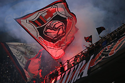March 2, 2019 - Milan, Milan, Italy - AC Milan fans show their support during the serie A match between AC Milan and US Sassuolo at Stadio Giuseppe Meazza on March 02, 2019 in Milan, Italy. (Credit Image: © Giuseppe Cottini/NurPhoto via ZUMA Press)