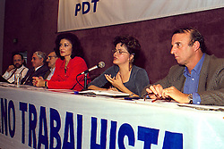 Reunião da Coordenação do Plano de Governo da candidata do PDT ao Governo do Estado do RS, Emilia Fernandes, coordenado por Dilma Rousseff e Júlio Hocsmann no auditório do PDT em 24/06/1998. FOTO: Sérgio Néglia/Preview.com