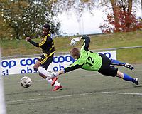 Fotball 2. divisjon Strindheim - Skeid 1-3,<br /> Faysal Ahmed setter inn 0-2,<br /> Foto: Carl-Erik Eriksson, Digitalsport