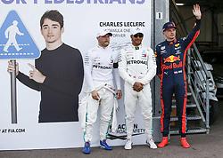 May 25, 2019 - Monte Carlo, Monaco - Motorsports: FIA Formula One World Championship 2019, Grand Prix of Monaco, ..#77 Valtteri Bottas (FIN, Mercedes AMG Petronas Motorsport), #44 Lewis Hamilton (GBR, Mercedes AMG Petronas Motorsport), #33 Max Verstappen (NLD, Aston Martin Red Bull Racing) (Credit Image: © Hoch Zwei via ZUMA Wire)