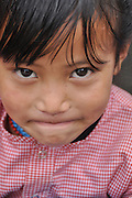 Portrait of a Tibetan girl, India, Himachal Pradesh, Manali, Vashisht