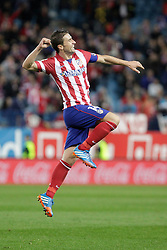 27.10.2013, Estadio Vicente Calderon, Madrid, ESP, Primera Division, Atletico Madrid vs Real Betis, 10. Runde, im Bild Atletico de Madrid's Gabi celebrates, goal // Atletico de Madrid's Gabi celebrates, goal during the Spanish Primera Division 10th round match between Club Atletico de Madrid and Real Betis at the Estadio Vicente Calderon in Madrid, Spain on 2013/10/28. EXPA Pictures © 2013, PhotoCredit: EXPA/ Alterphotos/ Victor Blanco<br /> <br /> *****ATTENTION - OUT of ESP, SUI*****