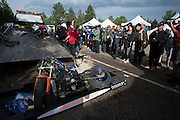 June 26-30 - Pikes Peak, Colorado. Wreckage of Michael Applehan's bike after the 91st running of the Pikes Peak Hill Climb.