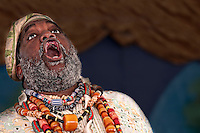 Portrait of African Storyteller giving a speech.