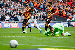 Jed Wallace of Millwall reacts after his shot sails wide  - Mandatory by-line: Matt McNulty/JMP - 20/05/2017 - FOOTBALL - Wembley Stadium - London, England - Bradford City v Millwall - Sky Bet League One Play-off Final
