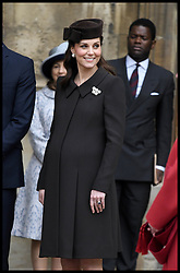 April 1, 2018 - London, London, United Kingdom - Queen Elizabeth II Easter Day Service. HM The Queen Elizabeth II is joined by Prince William, The Duke of Cambridge and his wife Catherine, The Duchess of Cambridge for the Easter Day service in St Georges Chapel at Windsor Castle. (Credit Image: © Andrew Parsons/i-Images via ZUMA Press)