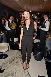 LONDON, ENGLAND 8 DECEMBER 2016: Eleanor Gecks at the Omega Constellation Globemaster Dinner at Marcus, The Berkeley Hotel, Wilton Place, London England. 8 December 2016.