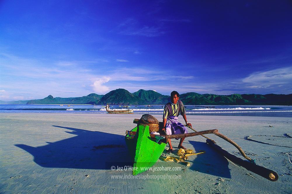 Selong Belanak Beach, Lombok, West Nusa Tenggara, Indonesia.
