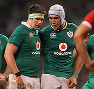 Billy Holland and Ultan Dillane of Ireland during the 2016 Guinness Series  autumn international rugby match, Ireland v Canada at the Aviva Stadium in Dublin, Ireland on Saturday 12th November 2016.<br /> pic by  John Halas, Andrew Orchard sports photography.