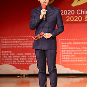 Presenters Zepeng Li at the 2020 China-Britain Chinese New Year Extravaganza with 200 performers from over 20 art groups from both China and the UK showcase at Logan Hall on 18th January 2020, London, UK.