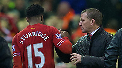28.01.2014, Anfield, Liverpool, ENG, Premier League, FC Liverpool vs FC Everton, 23. Runde, im Bild Liverpool's Daniel Sturridge leaves the pitch after scoring two goals against Everton // during the English Premier League 23th round match between Liverpool FC and Everton FC at Anfield in Liverpool, Great Britain on 2014/01/29. EXPA Pictures © 2014, PhotoCredit: EXPA/ Propagandaphoto/ David Rawcliffe<br /> <br /> *****ATTENTION - OUT of ENG, GBR*****