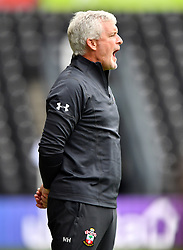 "Southampton manager Mark Hughes during a pre season friendly match at Pride Park, Derby. PRESS ASSOCIATION Photo. Picture date: Saturday July 21, 2018. Photo credit should read: Anthony Devlin/PA Wire. EDITORIAL USE ONLY No use with unauthorised audio, video, data, fixture lists, club/league logos or ""live"" services. Online in-match use limited to 75 images, no video emulation. No use in betting, games or single club/league/player publications."