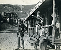 1916 A Balboa Feature Film's western town located on Signal Hill