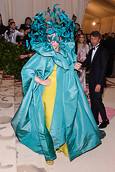 Frances McDormand walking the red carpet at The Metropolitan Museum of Art Costume Institute Benefit celebrating the opening of Heavenly Bodies : Fashion and the Catholic Imagination held at The Metropolitan Museum of Art  in New York, NY, on May 7, 2018. (Photo by Anthony Behar/Sipa USA)