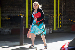 London, July 4th 2017. Secretary of State for Culture, Media and Sport Karen Bradley attends the weekly cabinet meeting at 10 Downing Street in London.