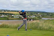 Jack McDonnell (Forrest Little) on the 9th tee during Matchplay Round 1 of the South of Ireland Amateur Open Championship at LaHinch Golf Club on Friday 22nd July 2016.<br /> Picture:  Golffile | Thos Caffrey<br /> <br /> All photos usage must carry mandatory copyright credit   (© Golffile | Thos Caffrey)