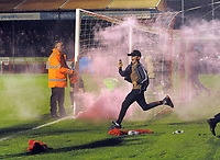 Football - 2019 / 2020 EFL Carabao (League) Cup - Crawley Town vs. Stoke City<br /> <br /> Young Crawley fans run onto the pitch to celebrate after the winning penalty in the shoot out, at The Peoples Pension Stadium (Broadfield).<br /> <br /> COLORSPORT/ANDREW COWIE