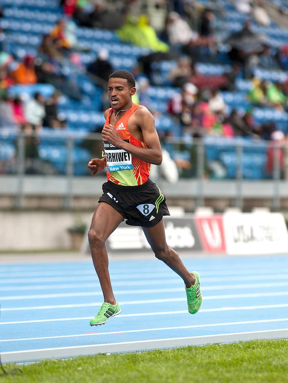 adidas Grand Prix Diamond League professional track & field meet:  Hagos Gebrhiwet, Ethiopia, mens 5000 meters