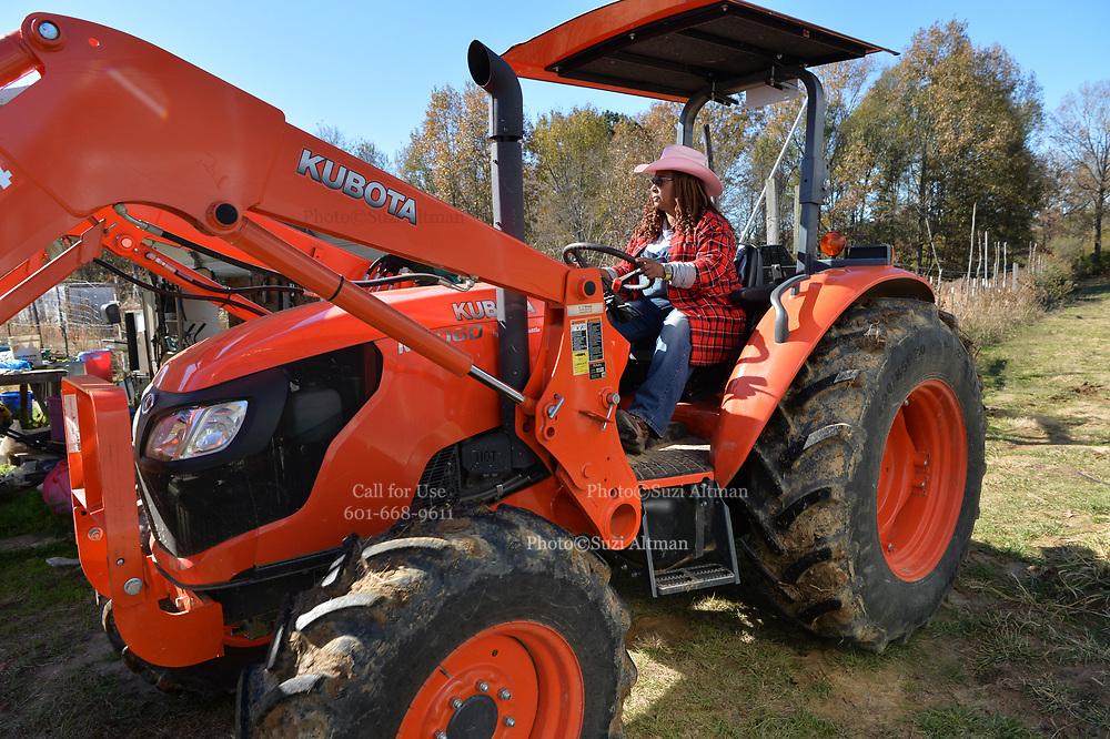 December 9, 2020 Jackson MS  Cindy Ayers owner of Footprints Farms © Suzi Altman