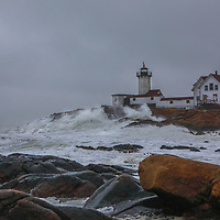 New England photography of Eastern Point Lighthouse where waves pounding and smashing into one of Massachusetts historic lighthouses. This beautiful Massachusetts lighthouse is located in Gloucester on Cape Ann.<br /> <br /> Massachusetts Cape Ann winter storm at Eastern Point Lighthouse fine art photography images are available as museum quality photo, canvas, acrylic, wood or metal prints. Wall art prints may be framed and matted to the individual liking and interior design decoration needs:<br /> <br /> https://juergen-roth.pixels.com/featured/winter-storm-at-eastern-point-lighthouse-juergen-roth.html<br /> <br /> Good light and happy photo making!<br /> <br /> My best,<br /> <br /> Juergen