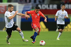 22nd June 2017 - FIFA Confederations Cup (Group B) - Germany v Chile - Shkodran Mustafi of Germany battles with Alexis Sanchez of Chile - Photo: Simon Stacpoole / Offside.