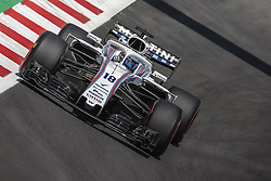 May 11, 2018 - Barcelona, Catalonia, Spain - LANCE STROLL (CAN) drives during the first practice session of the Spanish GP at Circuit de Catalunya in his Williams FW41 (Credit Image: © Matthias Oesterle via ZUMA Wire)