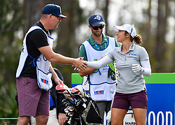 January 19, 2019 - Lake Buena Vista, FL, U.S. - LAKE BUENA VISTA, FL - JANUARY 19: .mara. shakes hands with a caddie during the third round of the Diamond Resorts Tournament of Champions on January 19, 2019, at Tranquilo Golf Course at Fours Seasons Orlando in Lake Buena Vista, FL. (Photo by Roy K. Miller/Icon Sportswire) (Credit Image: © Roy K. Miller/Icon SMI via ZUMA Press)