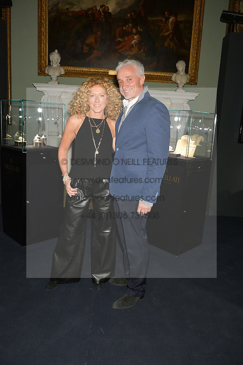 KELLY HOPPEN and JOHN GARDINER at an evenig of Jewellery & Photography to launch the Buccellati 'Opera Collection' held at Spencer House, London on 21st October 2015.