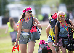 Savanah McEwan, Veronica Sardecka. The opening of the T in the Park 2015 campsite for the very first year at its new home at Strathallan Castle.