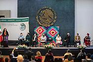 13 julio 2021, Ciudad de México. Alejandra Frausto, Secretaria de Cultura del gobierno federal de México, dirige unas palabras a los asistentes a un concurso gastronómico en el Complejo Cultural Los Pinos.