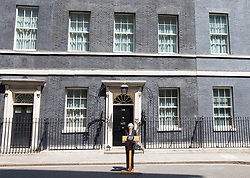 June 19, 2017 - London, London, United Kingdom - Image ©Licensed to i-Images Picture Agency. 19/06/2017. London, United Kingdom..Prime Minister, Theresa May makes a statement at 10 Downing street about the attack in Finsbury Park. Theresa May statement, London. Picture by Mark Thomas / i-Images (Credit Image: © Mark Thomas/i-Images via ZUMA Press)
