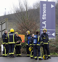 © Licensed to London News Pictures. 18/01/2012.30 Firefighters attend a fire at LA Fitness in Sandy Lane,Orpington (today 18.01.2012) The fire started in the pool area this morning. .Photo credit : Grant Falvey/LNP