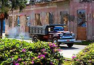 Dump truck in Cardenas, Matanzas, Cuba.