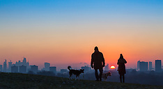 2017-12-12 London sunrise seen from Primrose Hill