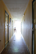 hall at a seaside motel