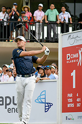 October 13, 2018 - Kuala Lumpur, Malaysia - Austin Cook of the United States plays his shot on the 1st green during round three of the CIMB Classic at TPC Kuala Lumpur on 13 October, 2018 in Kuala Lumpur, Malaysia  (Credit Image: © Chris Jung/NurPhoto via ZUMA Press)
